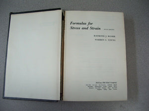 Formulas for Stress and Strain 5th ed Roark & Young 1982