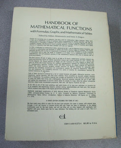 Handbook of Math Functions: Formulas,Graphs & Mathematical Tables 1965 Softcover