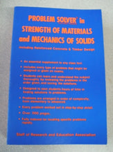Load image into Gallery viewer, Problem Solver in Strength of Materials and Mechanics of Solids by REA 1980