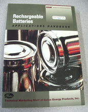 Load image into Gallery viewer, Rechargeable Batteries Applications Handbook by Gates Energy Products Staff 1988