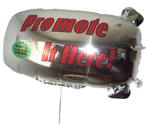 ZEP-AIR™ Messenger Tethered Blimp Helium Foil Balloon 32in x16in  Advertising Promotional Greeting  USA VERSION