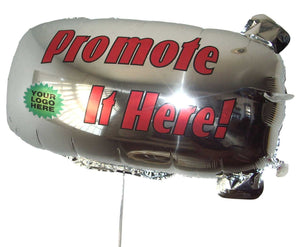 ZEP-AIR™ Messenger Tethered Blimp Helium Foil Balloon 800mm x 400mm Advertising Promotional Greeting  INTERNATIONAL VERSION