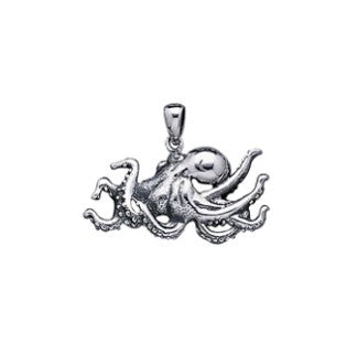 Dive Silver OCTOPUS STERLING SILVER PENDANT