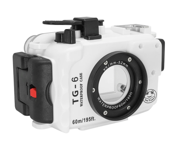 Sea Frogs (Olympus TG-6) 60m/195ft Underwater Camera Housing (White)