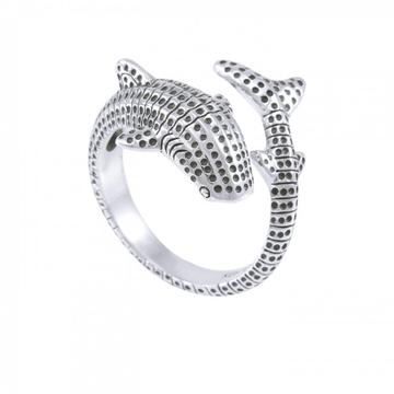 Dive Silver WHALE SHARK STERLING SILVER RING