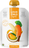 Bananes, carottes, manques + noix de coco (Love child organics)