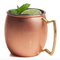 Moscow Mule Copper and Stainless Steel Smooth Belly-Shaped Mug 20oz (Brilliant)