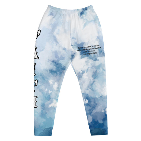 FAITH Joggers- Watercolour Blue