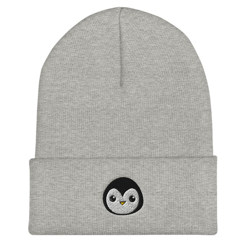 Penguin Core Logo Beanie- Heather Grey