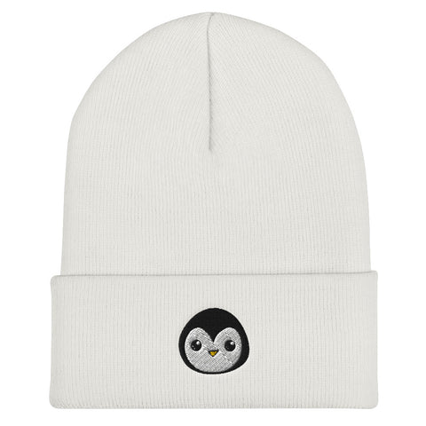 Penguin Core Logo Beanie- White