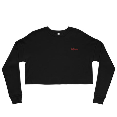 Self Love Crop Sweatshirt- Black