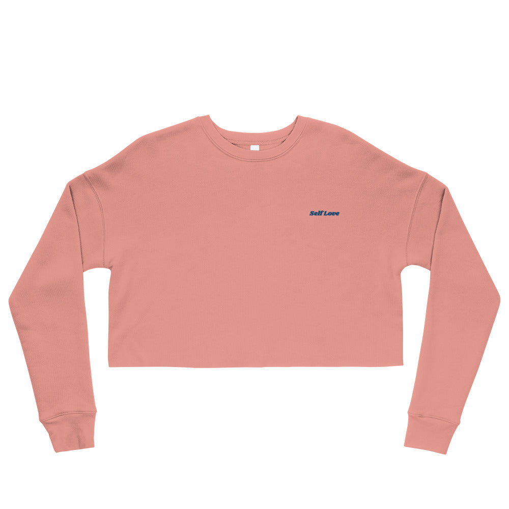 Self Love Crop Sweatshirt- Pink