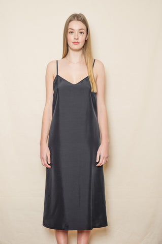 Delphine Silk Dress Slip - Full length