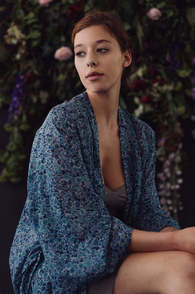 silk cotton liberty robe now or never lingerie