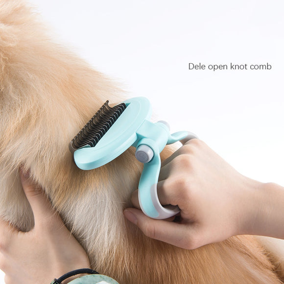 Pet Dog Cat Fur Knot Cutter Remove Rake Grooming Shedding Brush Comb Rake For Dog