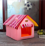 Home Shape Foldable Pet Cat Cave House Cat Kitten Bed Cama Para Cachorro Soft Winter Warm Dogs Kennel Nest Dog Cat