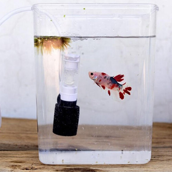 Home Fish Tank Filter Aquarium Ultra Silent Mini Water Pneumatic Filter for Small Fish Tanks Aquarium Accessories