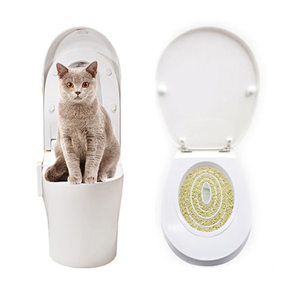 BEI DI CHONG Cat Toilet Training Kit Pet Kitty Potty Train System Training Toilet Tray Pet Supplies Toilet Training Kit Seat