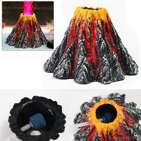 1pc Pecute Volcano Air Bubble Ornament Fish Tank Pump Volcano Fish Tank Accessories Aquarium Supplies Household Pet Supply