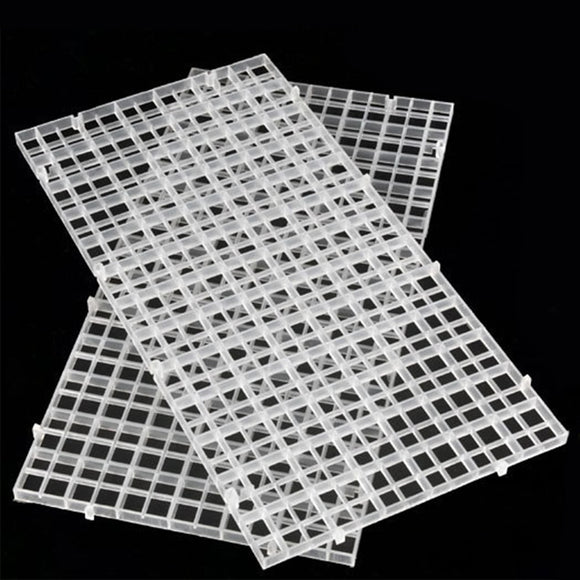 2pcs/set Aquarium Fish Tank Grid Divider Tray Egg Crate Filter Bottom Isolate