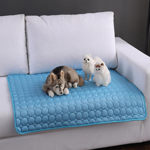Summer Pet Dog Cooling Mats Cats Dog Bed Sofa Pet Bed for Dog Cats Heat Relief Cooling Mat Floor Mat Dog Supplies Pet Product