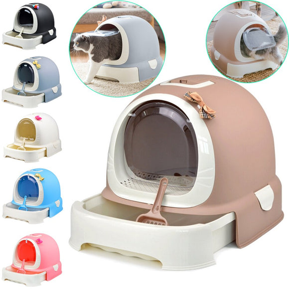 Indoor Cat Sandbox Kitten Litter Box Closed Tray Toilet Bedding Training 6 Colors Detachable Bedpan Small Medium Pet Accessories