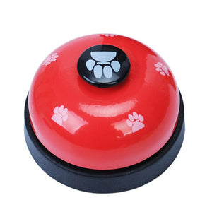 High Quality Cat Dog Pet Training Bell Stainless Steel+Plastic Practical Footprint Pet Puppy Dinner Calling Bell Pet Supplies