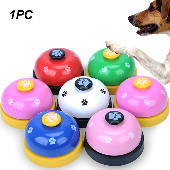 Toy Footprint Ring Small Funny Dog Training Called Pet Call Bell Dinner Puppy