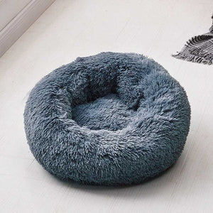 Round Plush Cat Bed Pet House Soft Fluffy Long Plush Cat Mat Round Dog Bed For Small Dogs Cats Nest Winter Warm Sleeping Bed Mat