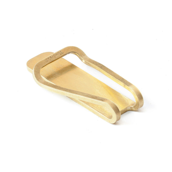 Square Brass Money Clip