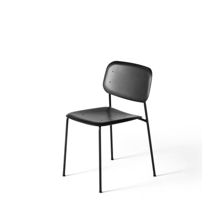 HAY Pair of Soft Edge P10 Stackable Chairs Jet Black