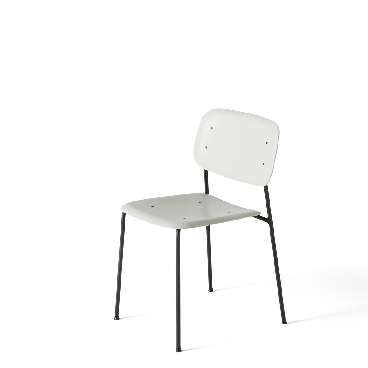 HAY Pair of Soft Edge P10 Stackable Chairs Soft Grey