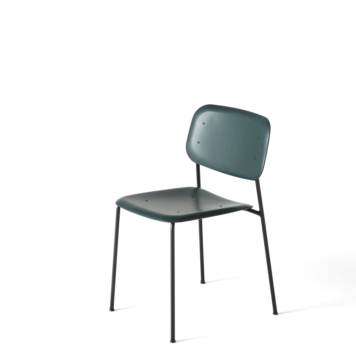 HAY Pair of Soft Edge P10 Stackable Chairs Dusty Green