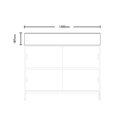 Dimensions for Edsbyn Office Neat Green Planter Box 1200mm