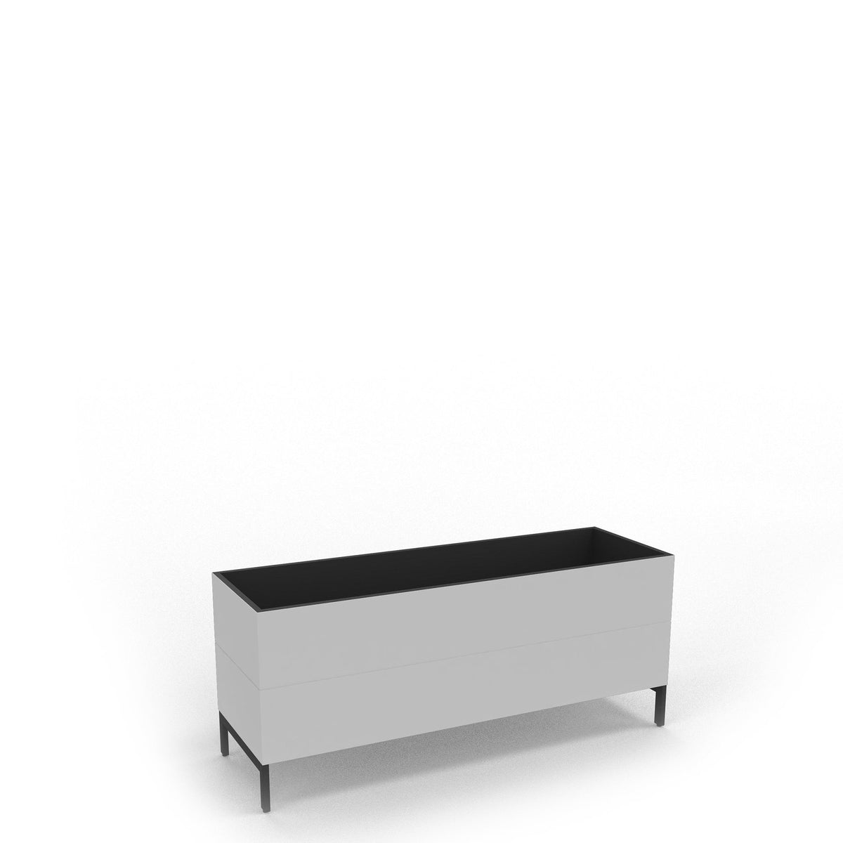 Edsbyn Office Neat Green Planter Box with Black Base 1200mm White