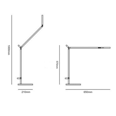 Dimensions for Artemide Demetra Table Task Light