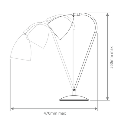 Dimensions for Astro Lighting Office Joel Table Lamp