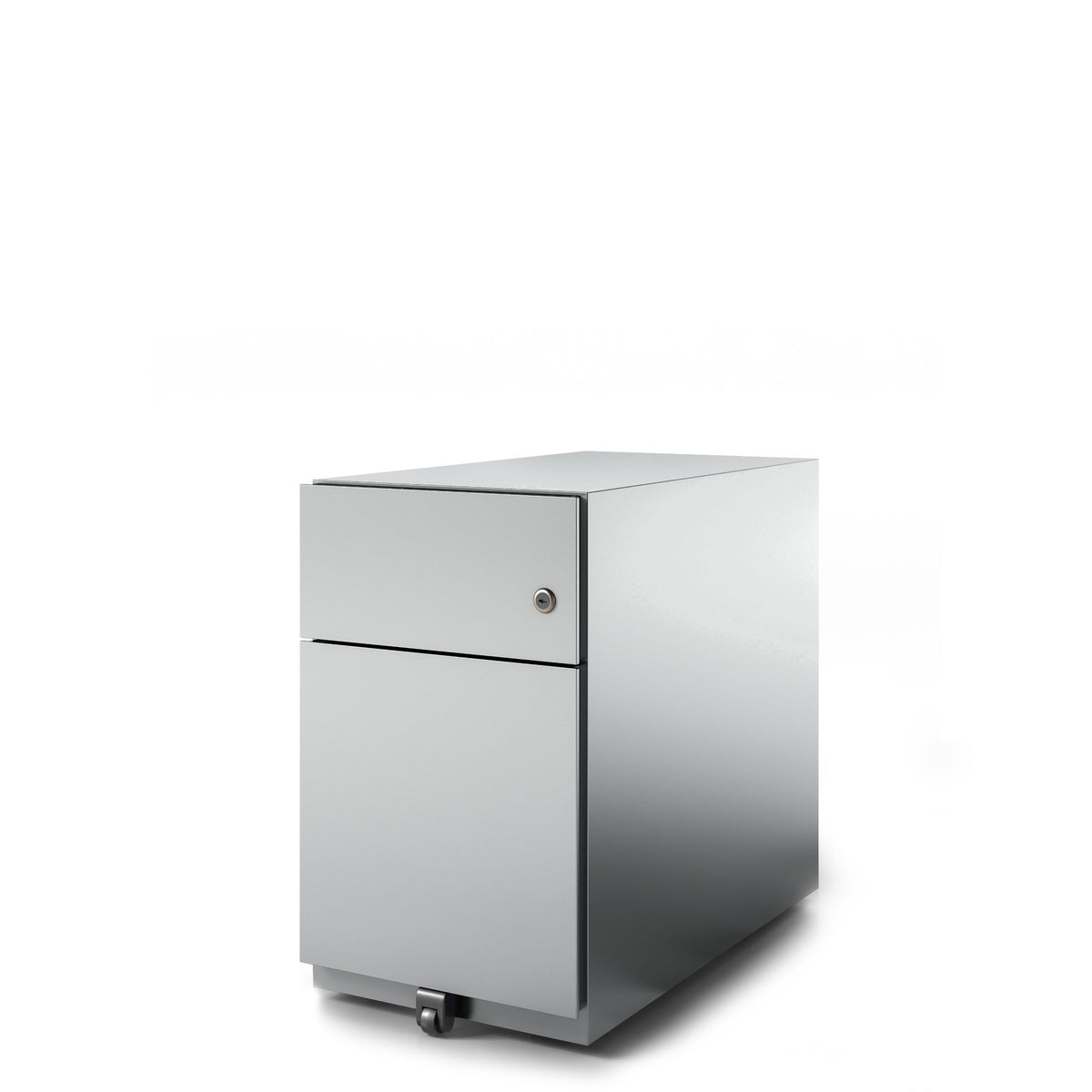 Bisley Office Note Slimline Mobile Silver Pedestal