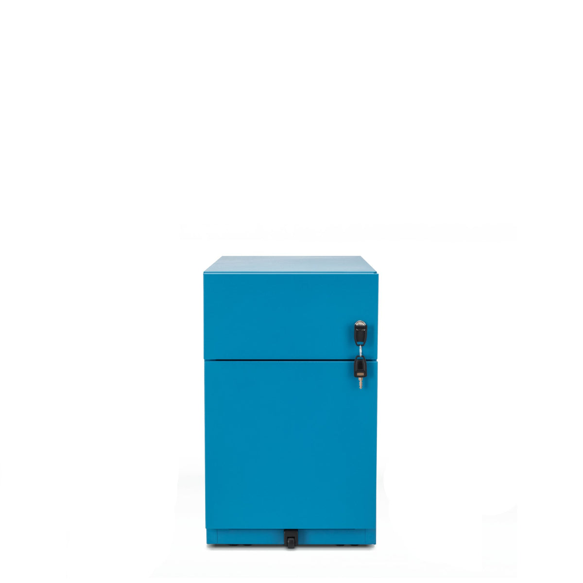 Bisley Office Note Slimline Mobile Azure Pedestal