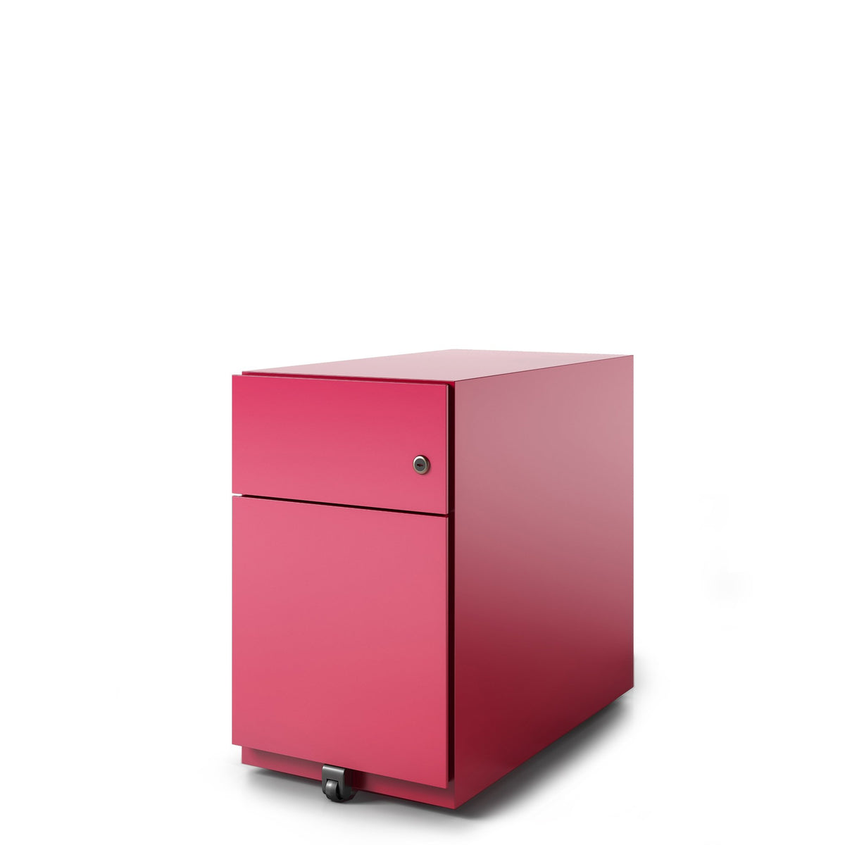 Bisley Office Note Slimline Mobile Cardinal Red Pedestal