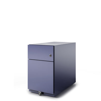 Bisley Office Note Slimline Mobile Oxford Blue Pedestal