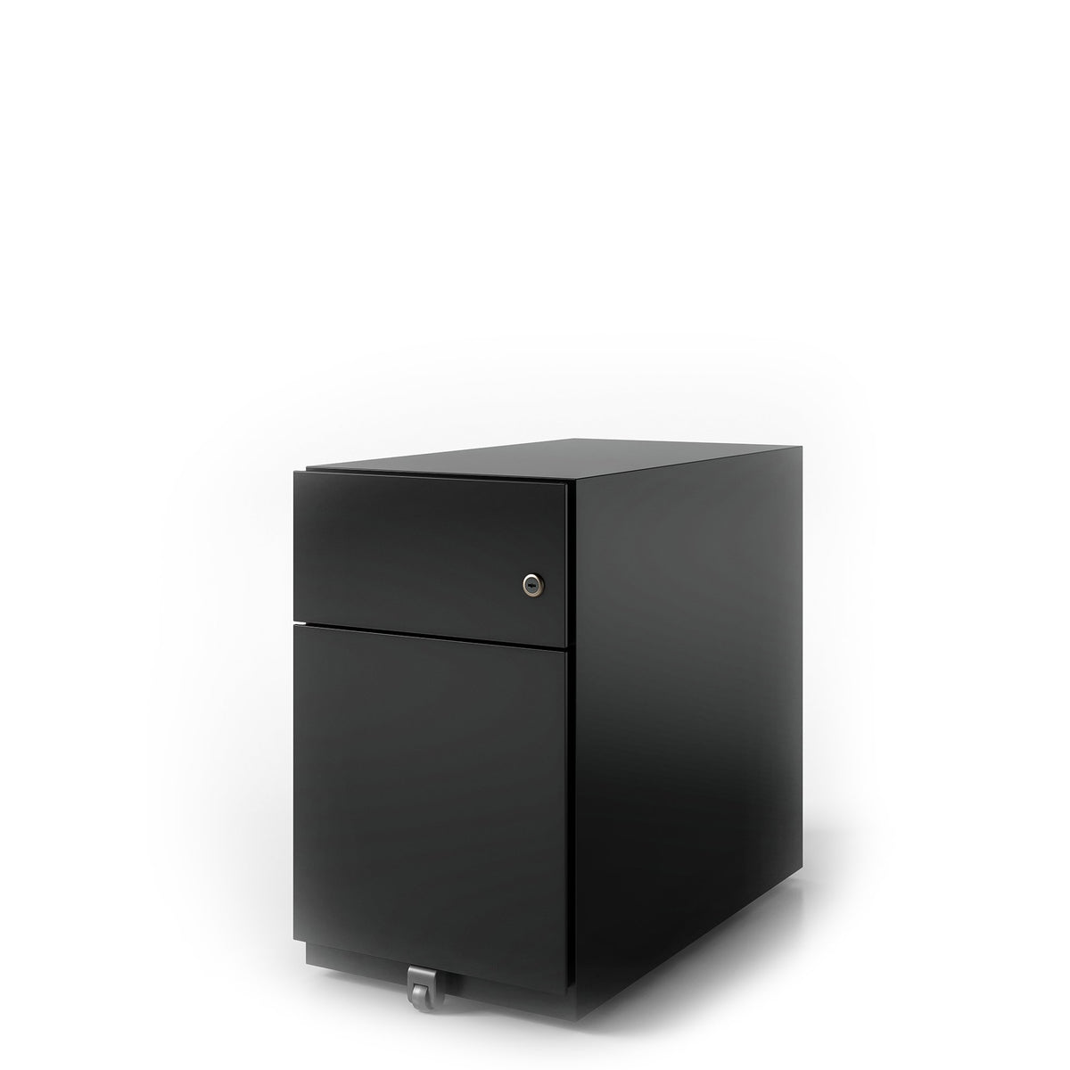 Bisley Office Note Slimline Mobile Black Pedestal