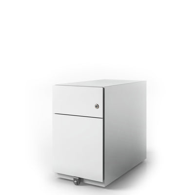 Bisley Office Note Slimline Mobile Traffic White Pedestal