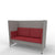 Edsbyn Ease Sofa Pod with Crimson Cushions
