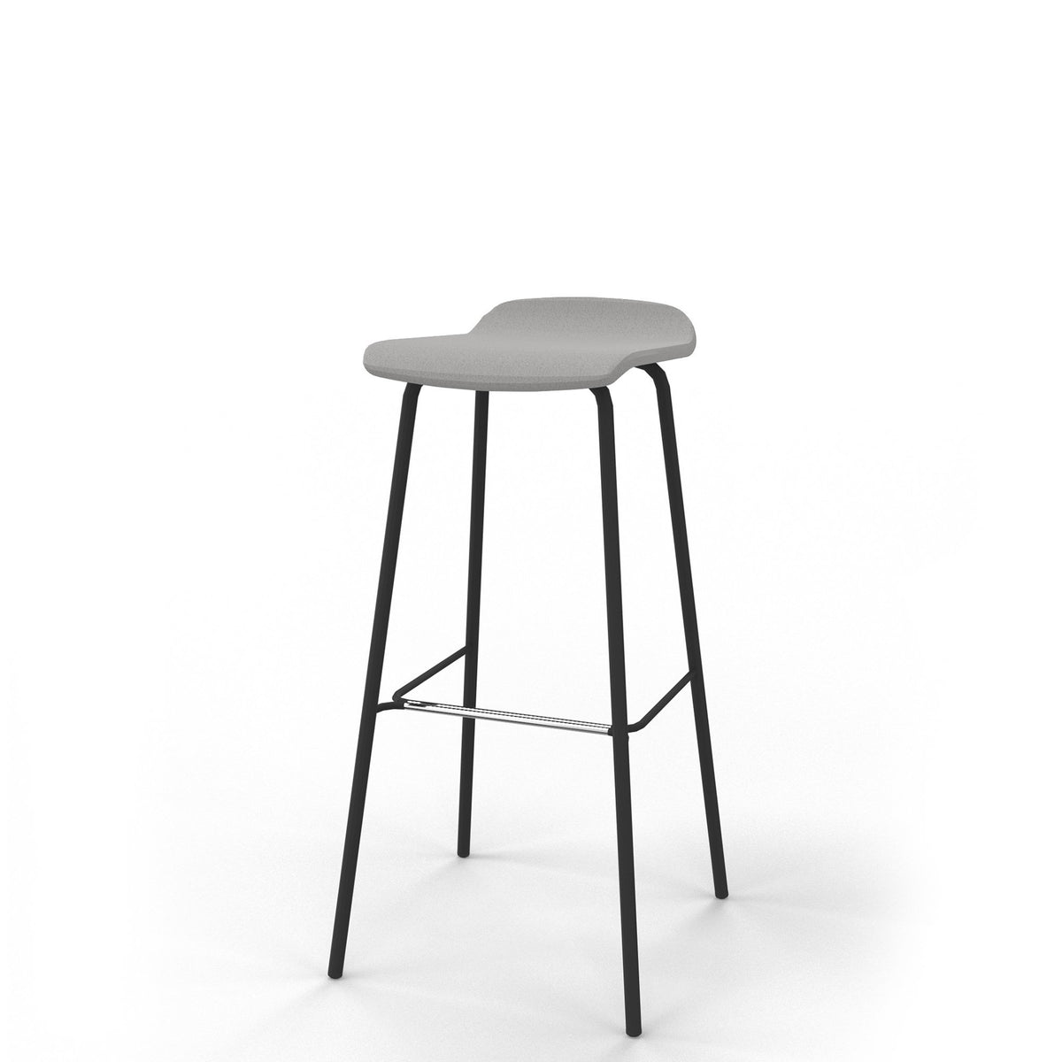 Edsbyn Office Upholstered Stool 800mmH Silver