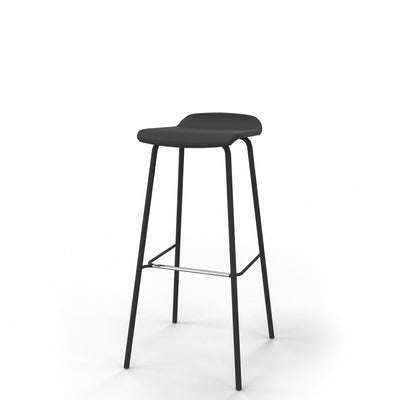 Edsbyn Office Upholstered Stool 800mmH Black