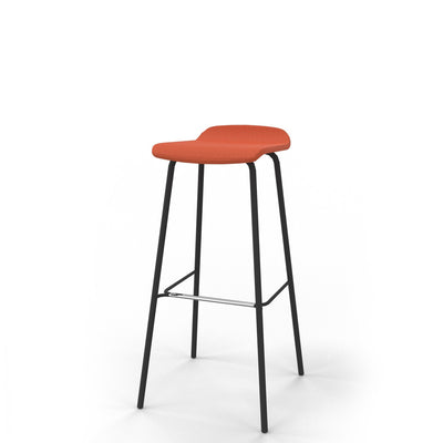 Edsbyn Office Upholstered Stool 800mmH Orange