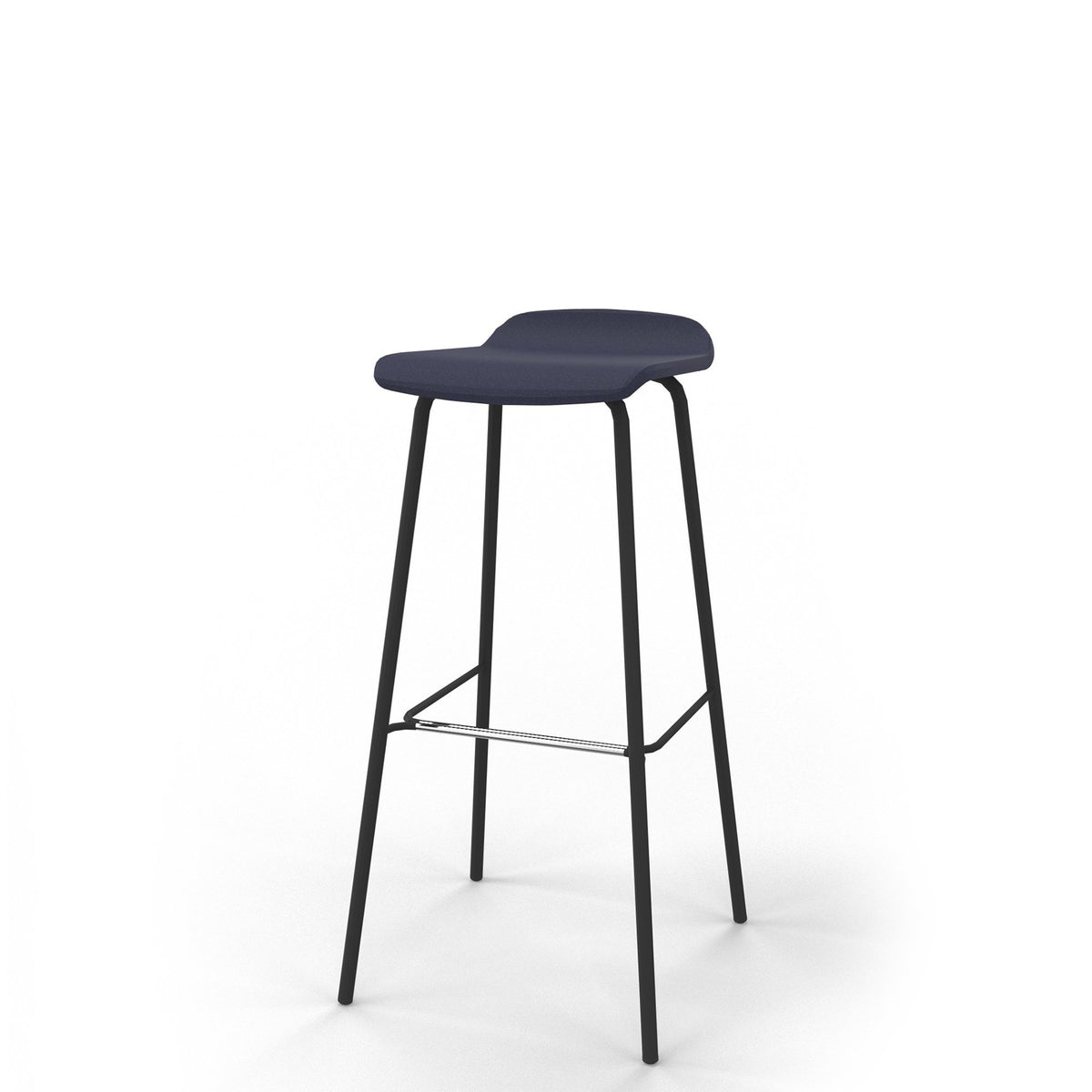 Edsbyn Office Upholstered Stool 800mmH Indigo