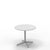 Edsbyn Feather Lounge Coffee Table White with Silver Base