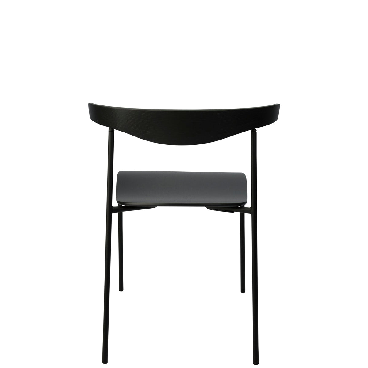 Edsbyn Office Hug Chair Black Stained Oak with Black Base